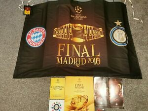 Champions League Final 2010 Programme/flag & Leaflet Lot Inter Milan Bayern