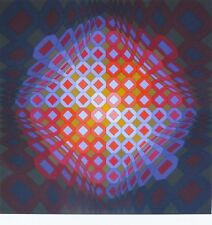 """VICTOR VASARELY """" O.T. """"  HAND SIGNED Limited Edition silkscreen"""