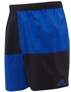 adidas Mens Colourblock Swim Shorts Black/Royal Blue Size 2XL 43-47w new