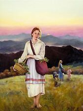 """Original Oil painting """"Where the Lilies bloom"""" by Qi Debrah,Illustration,18""""x24"""""""