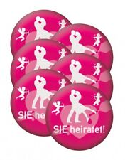 JGA Anstecknadeln Damen 8 Stück Party Buttons Hen Night Ansteckbuttons Plakette