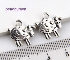 15pcs Jewelry Making Zinc Alloy Nice Sheep Charms Pendants 14x15mm 1A1731
