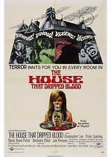 The House That Dripped Blood - Peter Cushing - A4 Laminated Mini Movie Poster