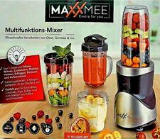 MAXXMEE Standmixer Smoothie Maker Mixer Milchshaker Crusher 12-tlg. 380W grau
