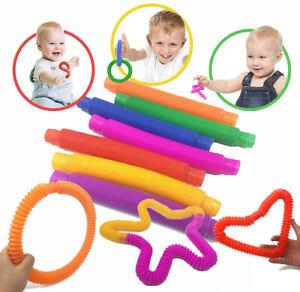 Fidget Pop Tube Toys Sensory Stretch Pipe Tools Decompression Stress Relief Tool
