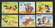 Grenada 1986 Disney Ameriplex Baseball MH SC#1375-80 Set of 6