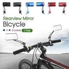 1 Pair Bicycle Rear View Rearview Mirror Bike Cycling Handlebar Rectangular AU
