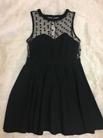 Coincidence & Chance Women's Dress Size L Black Sleeveless Mesh Bodice Party