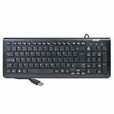 Acer USB Wired Multimedia Slim Keyboard Black SK-9626 AZERTY
