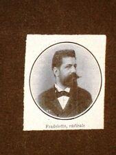 Onorevole Fradeletto nel 1908 Deputato radicale