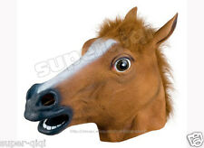 100% Latex/Rubber Horse Head Mask Costume For Halloween Gangnam style dance