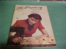 1949 SEARS SIMPLICITY SEWING BOOK USE FAIRLOOM FABRICS