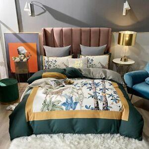 Colorful Bedding Set Soft Microfiber Duvet Cover Set Bed Sheet Pillowcases