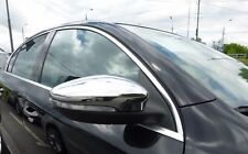 VW PASSAT CC  2008Up Chrome Door Wing Mirror Trim Set Covers S.Steel