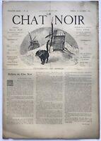 Rare revue, journal, Le Chat Noir. N° 146 du 25 octobre 1884