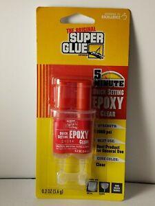 Super Glue 5 Minute Quick Set Epoxy Clear 0.2 oz Tube