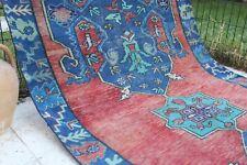 """Vintage Handmade Turkish Oushak  Runner Rug Carpet 141""""x50"""""""