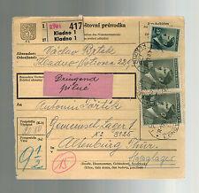 1944 Kladno Germany Parcel Cover to Altenburg KZ Concentration Camp Hasag Works