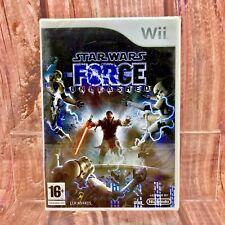 Wii VIDEOGIOCO STAR WARS IL POTERE DELLA FORZA Wii U Fabbrica Sigillato Nuovo di Zecca Jedi