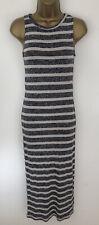 Primark Dress Blue Navy Stripe Thin Knit Bodycon Maxi Size 10 BNWTS