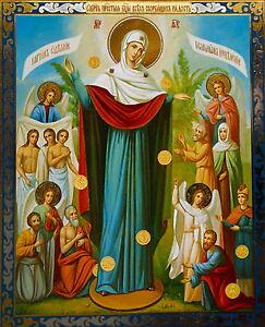 Icon  11 X 13 CM  PRINT ON BOARD  CHRISTIAN ORTHODOX  joy of all who sorrow