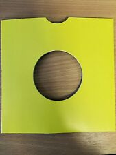 "50 X 7"" YELLOW CARD RECORD MASTERBAGS SLEEVES / COVERS *NEW*"
