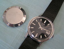 VINTAGE MEN'S WRISTWATCH ELGIN BLACK DIAL AUTOMATIC WATCH