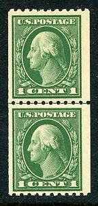 1914 1c PERF 10 COIL in LINE PAIR NH #441