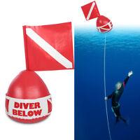 Snorkel Scuba Diving Surface Marker Inflatable Dive Flag Buoy Signal Float