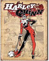 Harley Quinn Metal Tin Sign Retro Comic Joker Batman Cartoon Superhero New