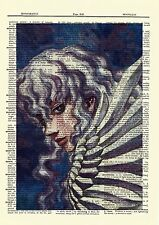 Berserk Griffith Anime Dictionary Art Print Poster Picture