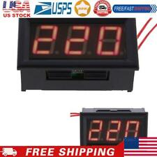 Red Led Ac30 500v Digital Voltmeter Voltage Display Panel With 2 Wires