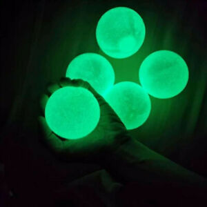 4Pcs/Set Sticky Wall Ball Noctilucent Luminous Squeeze Kids Decompression Toys