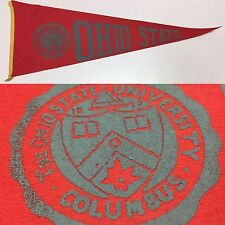 1950s Ohio State Buckeyes Columbus University Football Mini Pennant 5x14