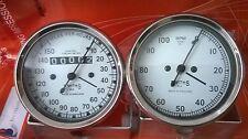 Smiths 150 mph Speedometer + Tachometer 80 mm fitment M18x1.5 thread Replica WH