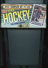 1990 TOPPS HOCKEY COMPLETE SET ( 396 CARDS ) FACTORY SEALED BOX
