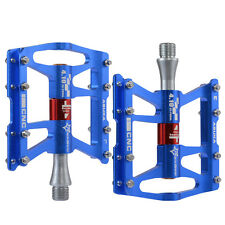 RockBros Bicycle Road Bike Cycling 4 Sealed Bearing Pedals Aluminum Alloy Blue