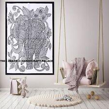 Indian Esterilla para Yoga Tapiz Colgante De Pared Decoración De Algodón Elefante Mantel Cartel