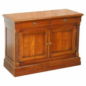 1 OF 2 LARGE GRANGE FRANCE CHERRY WOOD SIDEBOARD CUPBOARD DRAWERS LOVELY TIMBER