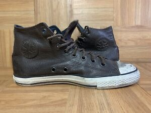 RARE🔥 Converse John Varvatos Brown HI Top Leather Sneakers 10 Men's 112072 Shoe