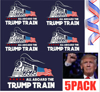 Donald Trump Bumper Sticker 2020 All Aboard The Trump Train 5PACK HOT LOT !