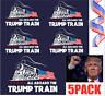 Donald Trump Bumper Sticker 2020 All Aboard The Trump Train 5PACK HOT LOT !