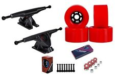"Cal 7 Longboard 10.75"" Axle Truck Bearing 83mm Red Skateboard Wheels"