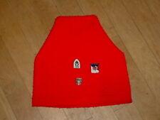 Vintage WIGWAM Ski Hat Red WITH Aspen-Jasper-Telemark Osterreich Ski Pins Nice!