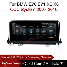 """Quad Core 10.25"""" Car  Player GPS Android 7.1 For BMW X5 X6 e70 e71 2007-2010 ccc"""