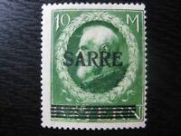 SAAR SAARLAND Mi. #31 scarce mint overprint stamp! CV $215.00
