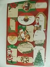 Christmas Wrap Gift Tags - Peel & Stick - to & from Labels for Presents (52)
