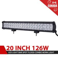 20Inch 126W LED Light Bar Spot Flood Work Light Driving Light w/Mounting Bracket
