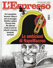 L'Espresso 2017 28.Emmanuel Macron,Paolo Villaggio & Federico Fellini