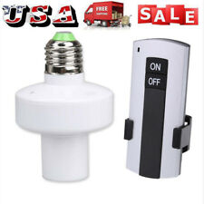 Wireless Remote Control E27 Lamp Holder Light Bulb Cap Socket Switch Screw Kit